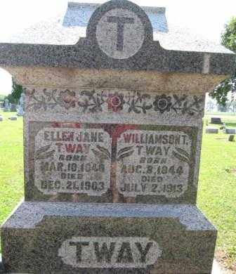 TWAY, ELLEN JANE - Union County, Ohio | ELLEN JANE TWAY - Ohio Gravestone Photos