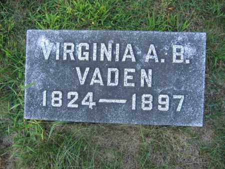 VADEN, VIRGINIA A.B. - Union County, Ohio | VIRGINIA A.B. VADEN - Ohio Gravestone Photos