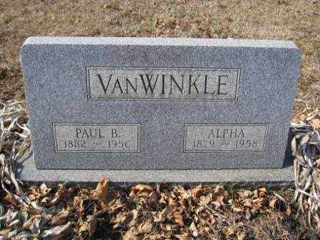 VAN WINKLE, PAUL B. - Union County, Ohio | PAUL B. VAN WINKLE - Ohio Gravestone Photos