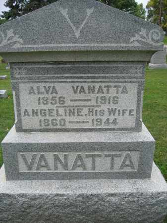 VANATTA, ANGELINE - Union County, Ohio | ANGELINE VANATTA - Ohio Gravestone Photos