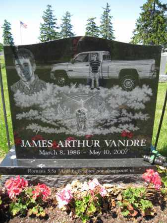 VANDRE, JAMES ARTHUR - Union County, Ohio | JAMES ARTHUR VANDRE - Ohio Gravestone Photos