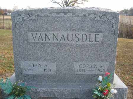 VANNAUSDLE, ETTA A. - Union County, Ohio | ETTA A. VANNAUSDLE - Ohio Gravestone Photos