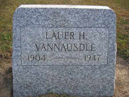 VANNAUSDLE, LAUER H. - Union County, Ohio | LAUER H. VANNAUSDLE - Ohio Gravestone Photos