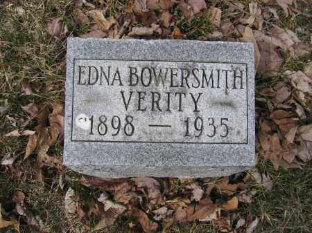 VERITY, EDNA BOWERSMITH - Union County, Ohio | EDNA BOWERSMITH VERITY - Ohio Gravestone Photos
