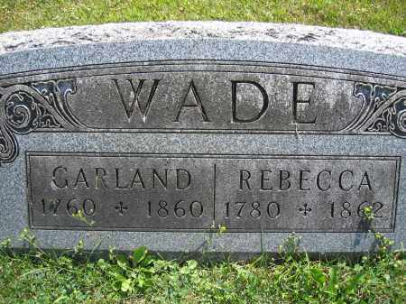 WADE, REBECCA - Union County, Ohio | REBECCA WADE - Ohio Gravestone Photos