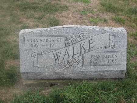 WALKE, JESSE LOTTEN - Union County, Ohio | JESSE LOTTEN WALKE - Ohio Gravestone Photos