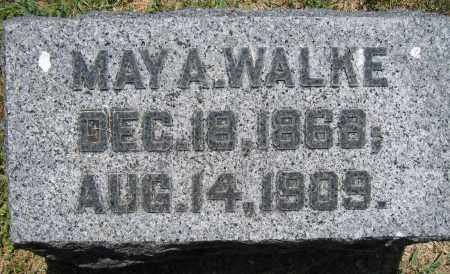 WALKE, MAY A. - Union County, Ohio | MAY A. WALKE - Ohio Gravestone Photos