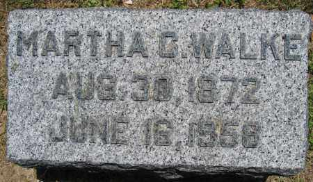 WALKE, MARTHA C. - Union County, Ohio   MARTHA C. WALKE - Ohio Gravestone Photos