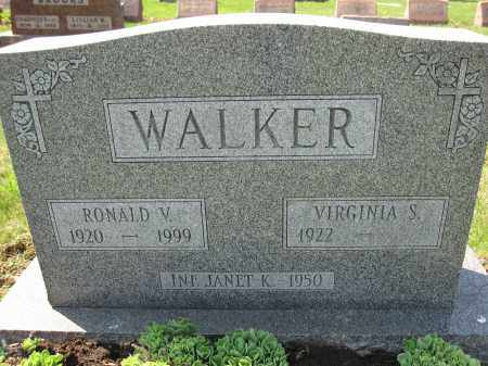 WALKER, RONALD V. - Union County, Ohio | RONALD V. WALKER - Ohio Gravestone Photos
