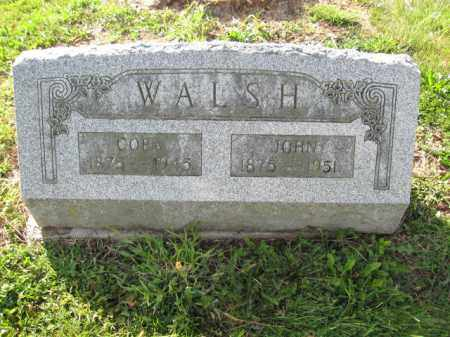 WALSH, CORA - Union County, Ohio | CORA WALSH - Ohio Gravestone Photos