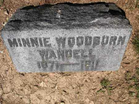 WANDELL, MINNIE WOODBURN - Union County, Ohio | MINNIE WOODBURN WANDELL - Ohio Gravestone Photos