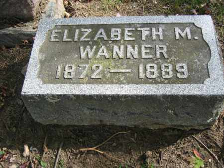 WANNER, ELIZABETH M. - Union County, Ohio | ELIZABETH M. WANNER - Ohio Gravestone Photos