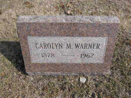 WARNER, CAROLYN M. - Union County, Ohio | CAROLYN M. WARNER - Ohio Gravestone Photos