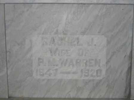 WARREN, RACHEL J. - Union County, Ohio | RACHEL J. WARREN - Ohio Gravestone Photos