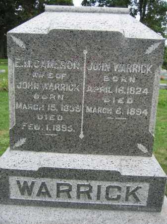 WARRICK, E.M. CAMERON - Union County, Ohio | E.M. CAMERON WARRICK - Ohio Gravestone Photos