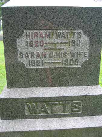 WATTS, HIRAM - Union County, Ohio | HIRAM WATTS - Ohio Gravestone Photos