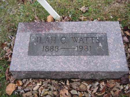 WATTS, ILAH C. - Union County, Ohio | ILAH C. WATTS - Ohio Gravestone Photos