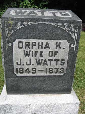 WATTS, ORPHA K. - Union County, Ohio | ORPHA K. WATTS - Ohio Gravestone Photos