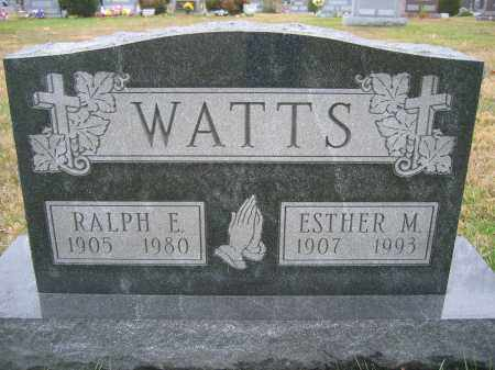 WATTS, ESTHER M. - Union County, Ohio | ESTHER M. WATTS - Ohio Gravestone Photos