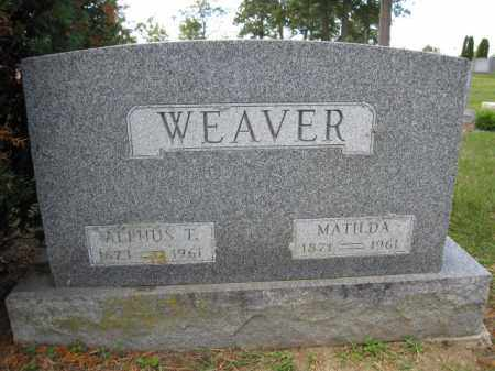 WEAVER, ALPHUS T. - Union County, Ohio | ALPHUS T. WEAVER - Ohio Gravestone Photos
