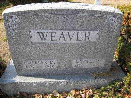 WEAVER, MYRTLE E. - Union County, Ohio | MYRTLE E. WEAVER - Ohio Gravestone Photos