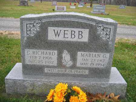 WEBB, C. RICHARD - Union County, Ohio | C. RICHARD WEBB - Ohio Gravestone Photos