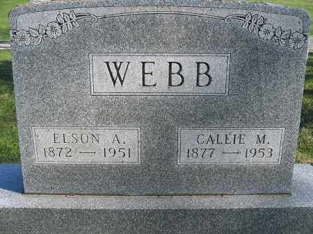 WEBB, ELSON A. - Union County, Ohio | ELSON A. WEBB - Ohio Gravestone Photos