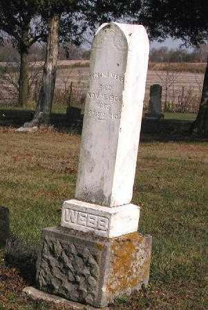 WEBB, INDIANA - Union County, Ohio   INDIANA WEBB - Ohio Gravestone Photos