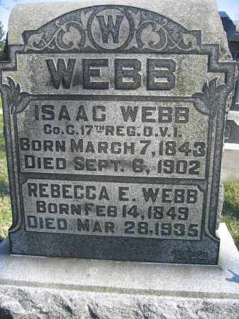 WEBB, REBECCA E. - Union County, Ohio | REBECCA E. WEBB - Ohio Gravestone Photos