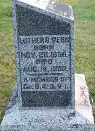 WEBB, LUTHER B - Union County, Ohio | LUTHER B WEBB - Ohio Gravestone Photos