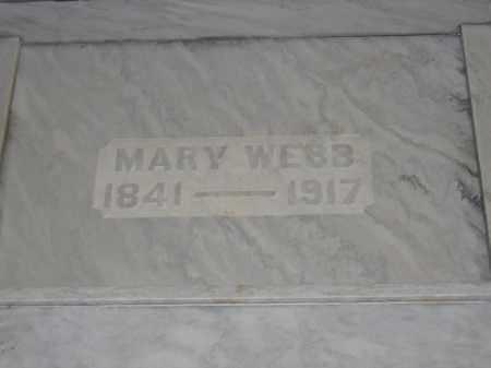 WEBB, MARY - Union County, Ohio | MARY WEBB - Ohio Gravestone Photos