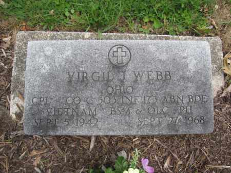 WEBB, VIRGIL J. - Union County, Ohio | VIRGIL J. WEBB - Ohio Gravestone Photos