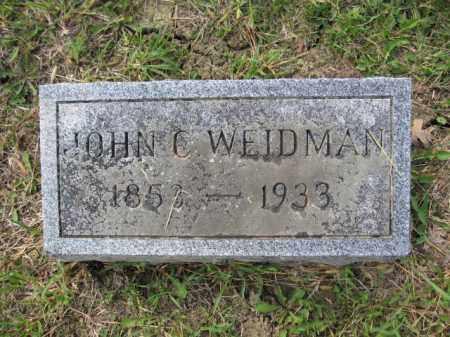 WEIDMAN, JOHN C. - Union County, Ohio | JOHN C. WEIDMAN - Ohio Gravestone Photos