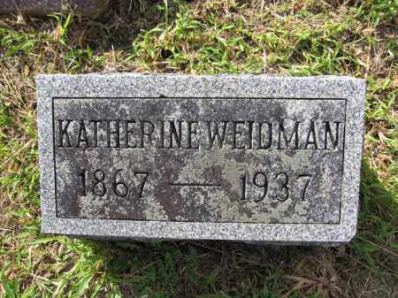 WEIDMAN, KATHERINE - Union County, Ohio | KATHERINE WEIDMAN - Ohio Gravestone Photos