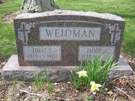 WEIDMAN, LOUIS E. - Union County, Ohio | LOUIS E. WEIDMAN - Ohio Gravestone Photos