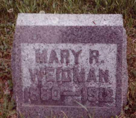 WEIDMAN, MARY R - Union County, Ohio | MARY R WEIDMAN - Ohio Gravestone Photos