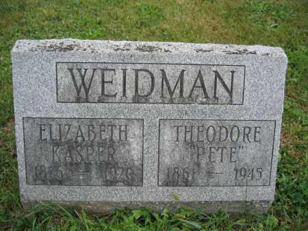 WEIDMAN, ELIZABETH KASPER - Union County, Ohio | ELIZABETH KASPER WEIDMAN - Ohio Gravestone Photos