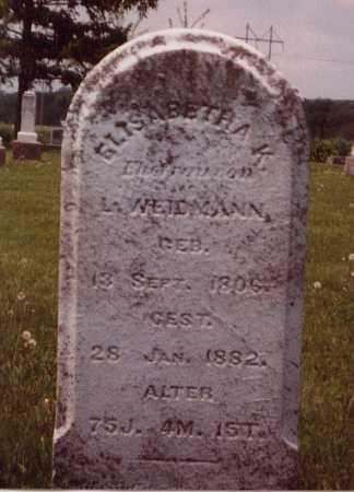 WEIDMANN, ELISABETHA K - Union County, Ohio | ELISABETHA K WEIDMANN - Ohio Gravestone Photos