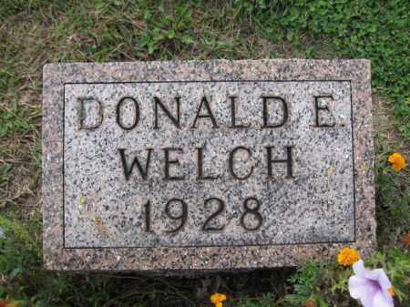 WELCH, DONALD E. - Union County, Ohio | DONALD E. WELCH - Ohio Gravestone Photos