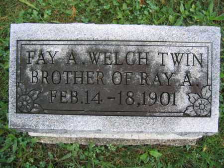 WELCH, FAY A. - Union County, Ohio | FAY A. WELCH - Ohio Gravestone Photos