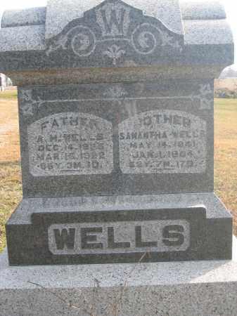 WELLS, A.H. - Union County, Ohio | A.H. WELLS - Ohio Gravestone Photos