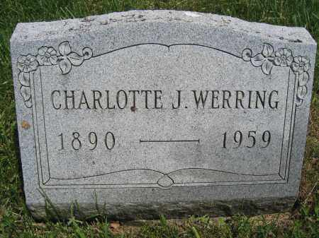 WERRING, CHARLOTTE J. - Union County, Ohio | CHARLOTTE J. WERRING - Ohio Gravestone Photos