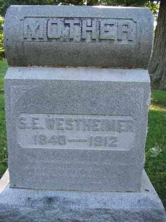 WESTHEIMER, SARAH E. IRVIN - Union County, Ohio | SARAH E. IRVIN WESTHEIMER - Ohio Gravestone Photos