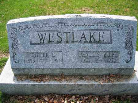 WESTLAKE, ESTHER L. - Union County, Ohio | ESTHER L. WESTLAKE - Ohio Gravestone Photos