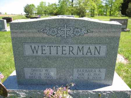 WETTERMAN, DAVID W. - Union County, Ohio | DAVID W. WETTERMAN - Ohio Gravestone Photos