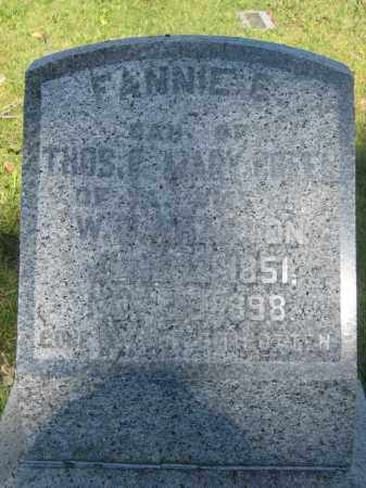 WHARTON, FANNIE E. - Union County, Ohio | FANNIE E. WHARTON - Ohio Gravestone Photos