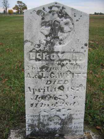 WHITE, LEROY L. - Union County, Ohio | LEROY L. WHITE - Ohio Gravestone Photos