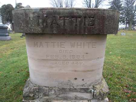 WHITE, MATTIE - Union County, Ohio | MATTIE WHITE - Ohio Gravestone Photos