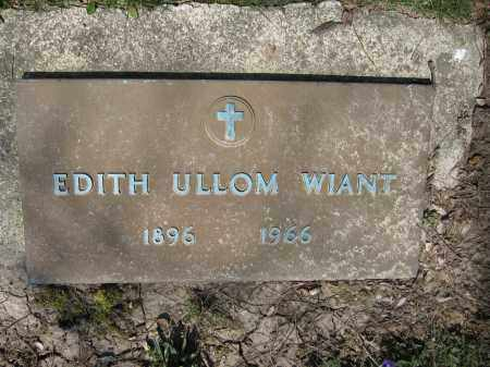 WIANT, EDITH ULLOM - Union County, Ohio | EDITH ULLOM WIANT - Ohio Gravestone Photos