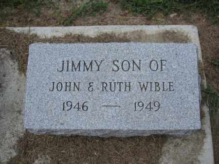 WIBLE, JIMMY - Union County, Ohio | JIMMY WIBLE - Ohio Gravestone Photos